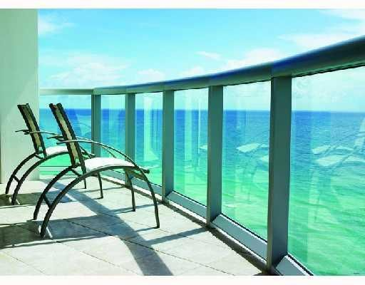 Balcony Overlooking The Ocean At Marenas Beach Resort Spa In Miami Florida