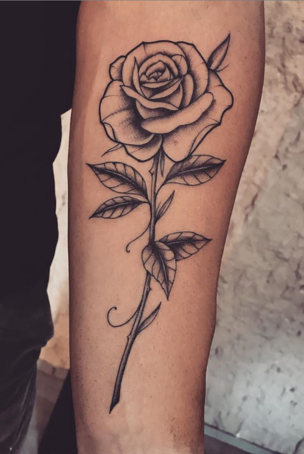 55 Beautiful Rose Tattoo Ideas Page 41 Of 55 Lily Fashion Style Rose Tattoos For Men Rose Tattoo Design Single Rose Tattoos