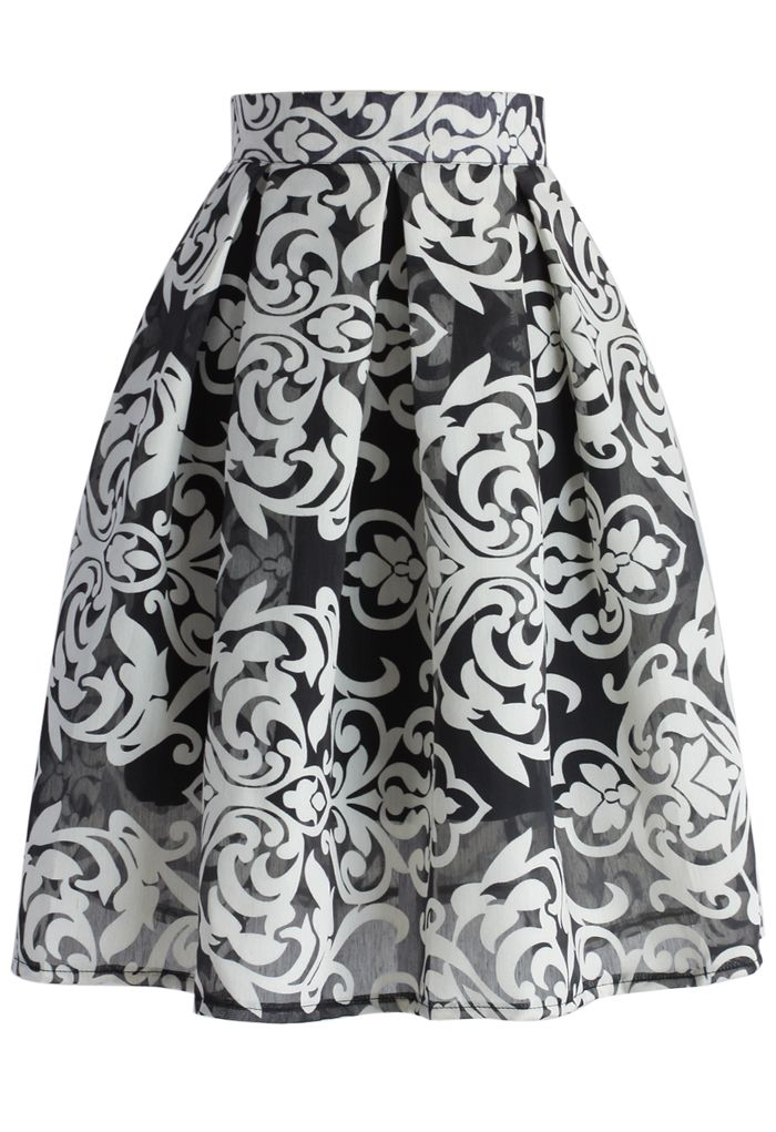 All About Baroque Pleated Skirt - New Arrivals - Retro, Indie and Unique Fashion