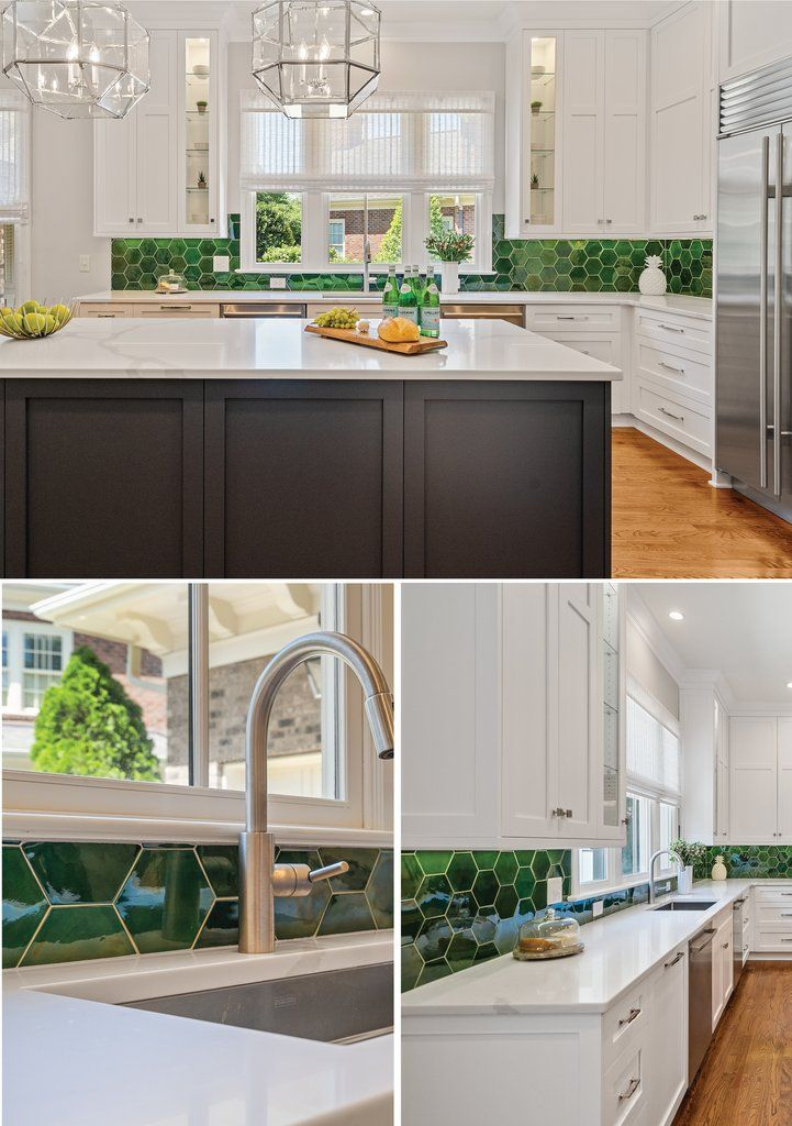 emerald green tiled kitchen backsplash with images green tile backsplash mosaic backsplash on kitchen ideas emerald green id=73089