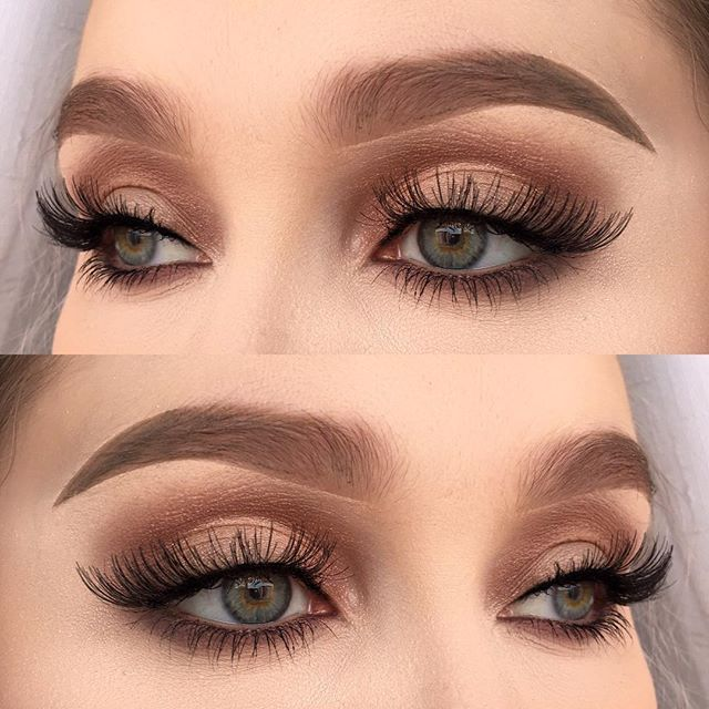 Best Ideas For Makeup Tutorials : Soft gold✨ I used Make Up Store microshadow trio Diamond, moonshadow Peach and…