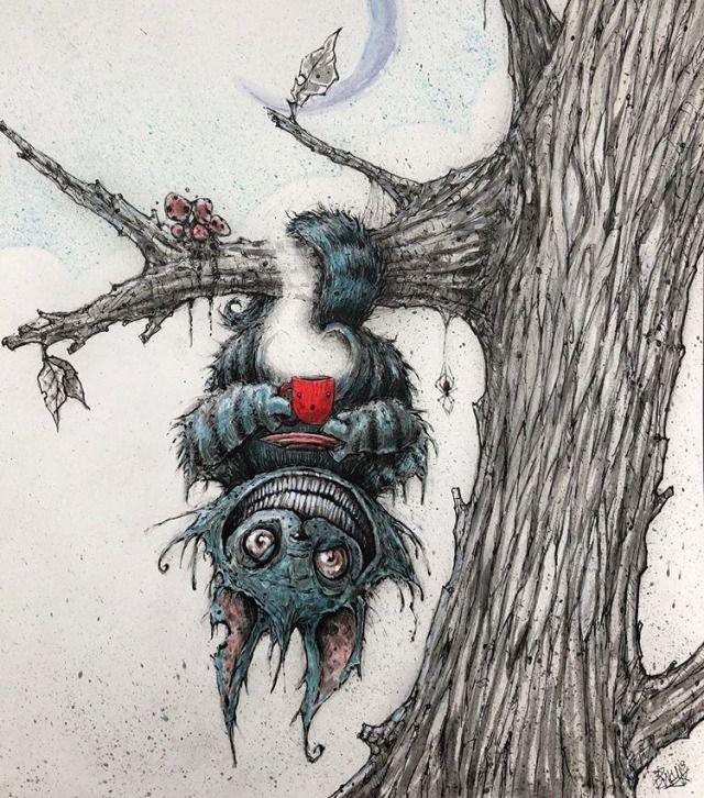 Pin By Neptune On Art S Cheshire Cat Art Cat Art Print Dark Art Illustrations