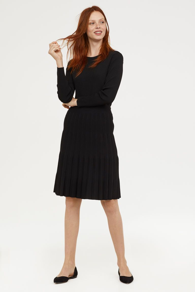 Ribknit dress in my style pinterest dresses ribbed knit