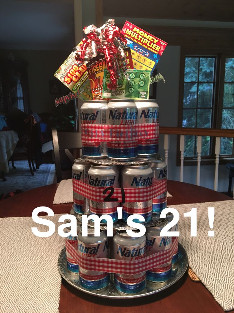 Beer Can Cake For My Sons 21st Birthday Daughter And I Made