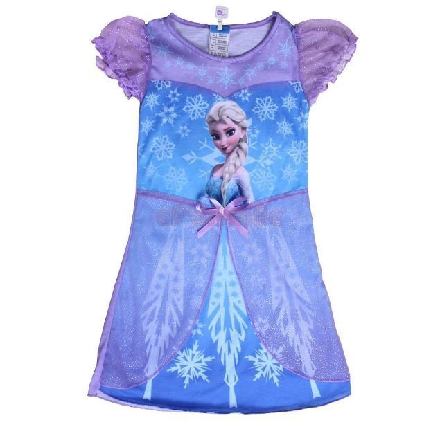 Cinderella Princess Character Dress Child 3t 4t 5 6 7: NEW Elsa Disney Frozen Pajamas Nightgown Dress Girls 3T