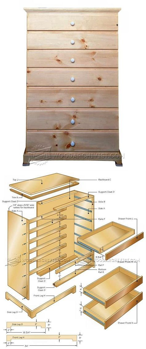 Tall Chest Of Drawers Plans Furniture Plans And Projects Woodarchivist Com Woodworking Furniture Plans Woodworking Plans Diy Woodworking Projects That Sell