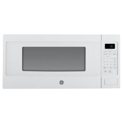 Ge Pem31dfww Profile 1 1 Cu Ft White Countertop Microwave