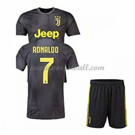 d32c73c3 Billige Fotballdrakter Juventus Barn 2018-19 Cristiano Ronaldo 7 Tredje Draktsett  Fotball Kortermet