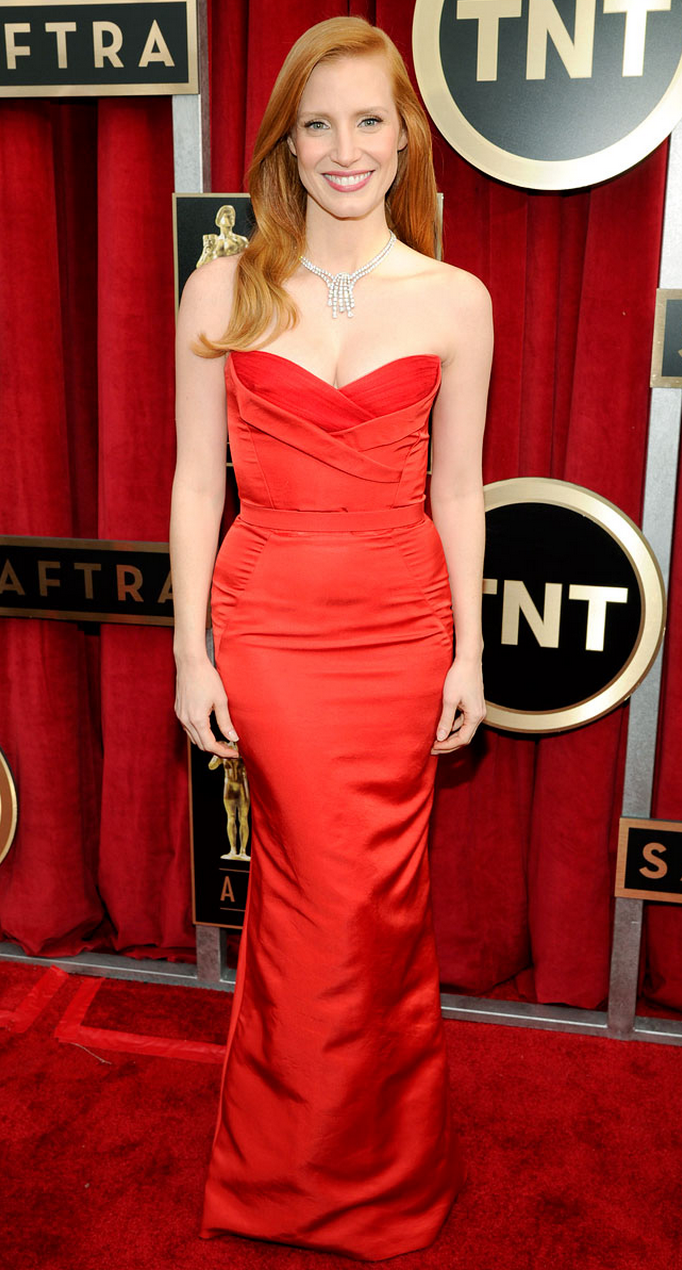 9ebe4f927170 Jessica Chastain, red carpet | Red Carpet | Red carpet fashion, Red ...