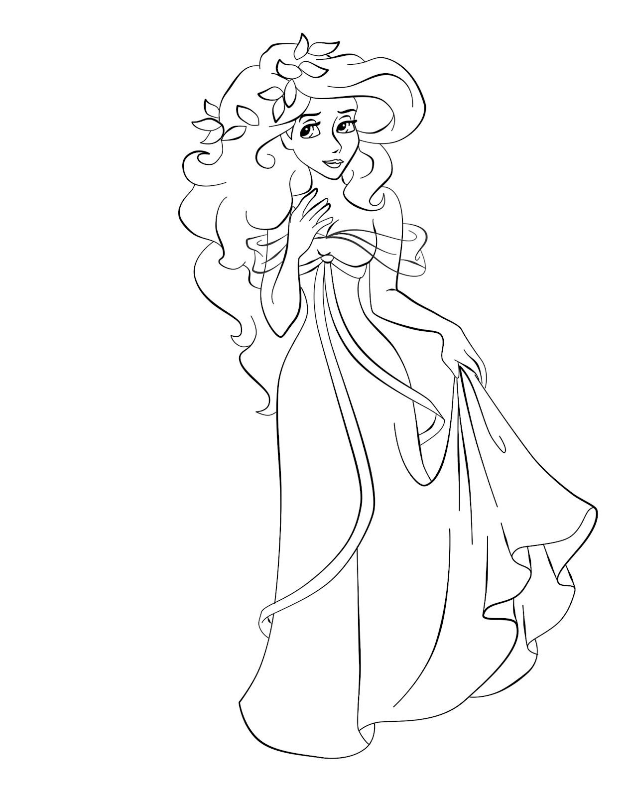 Princess giselle coloring pages - Disney Princess Giselle Coloring Page