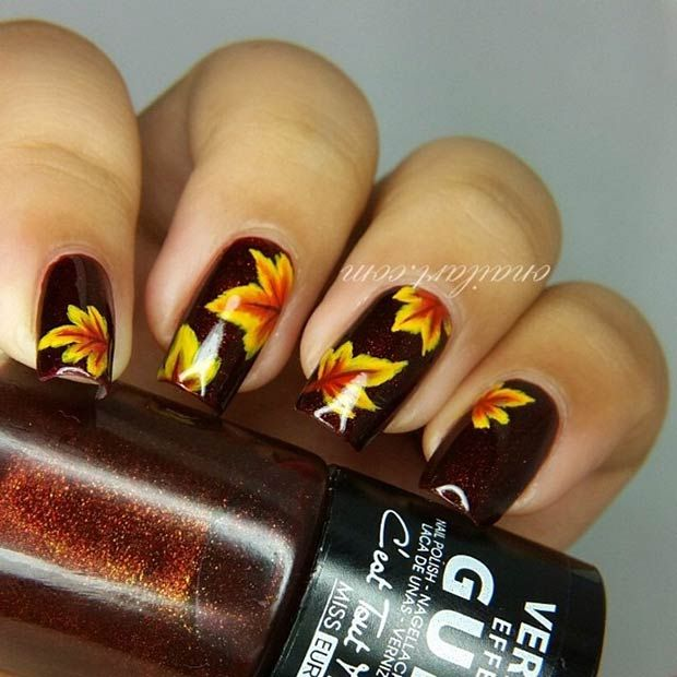 35 Cool Nail Designs to Try This Fall | Dark backgrounds, Nail nail ...