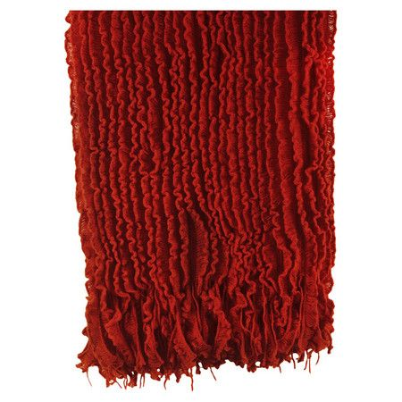Ruffle Throw In Red Product ThrowConstruction Material Extraordinary Charlotte Ruffled Throw Blanket