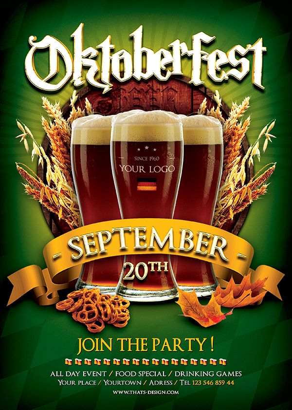 Beer Party Oktoberfest Flyer Template Http Thatsdesign Product