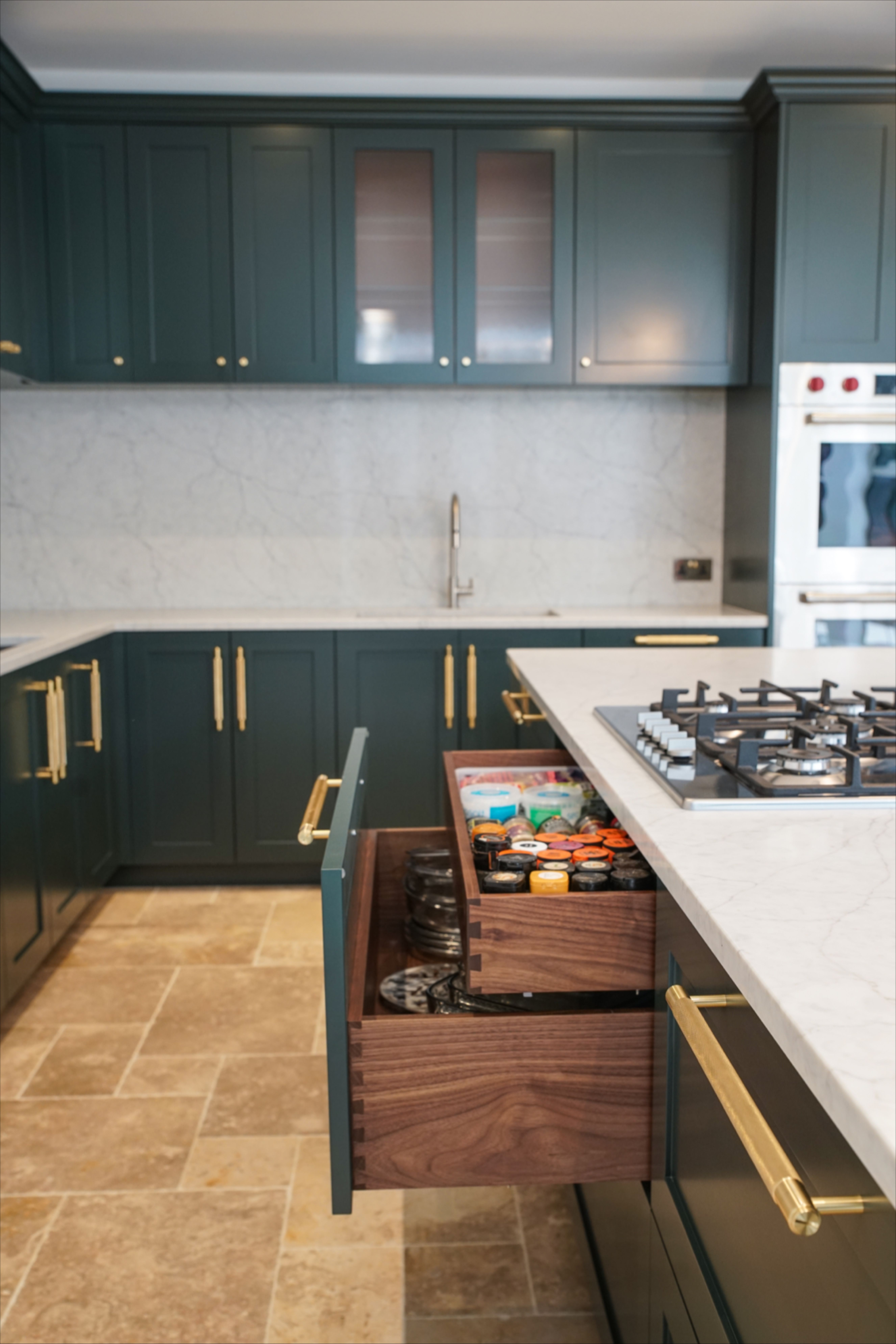 Shaker Kitchen With Bespoke Dovetail Joint Kitchen Kitchen Cabinets Shaker Kitchen