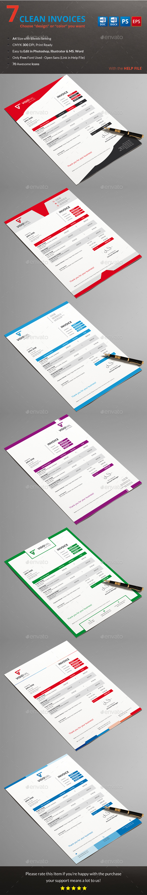 Invoice Photoshop Psd Red Psd Available Here Invoicing Print Templates Proposal Templates