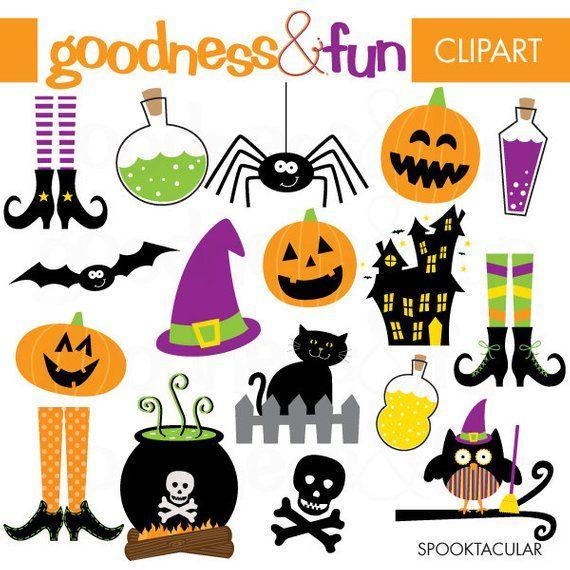 Spooktacular Halloween Clipart - Digital Halloween