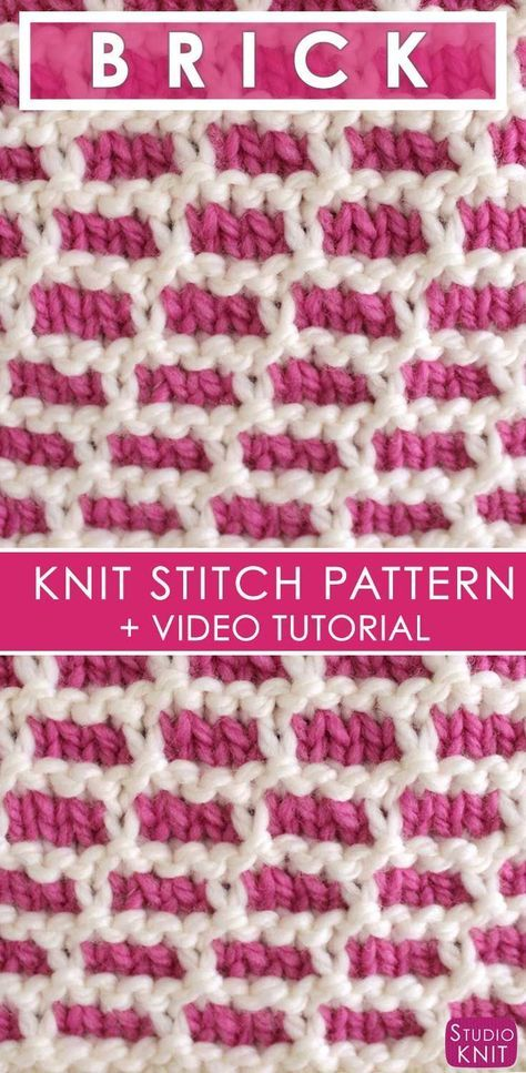 How To Knit The Brick Stitch With Free Pattern And Video Brick