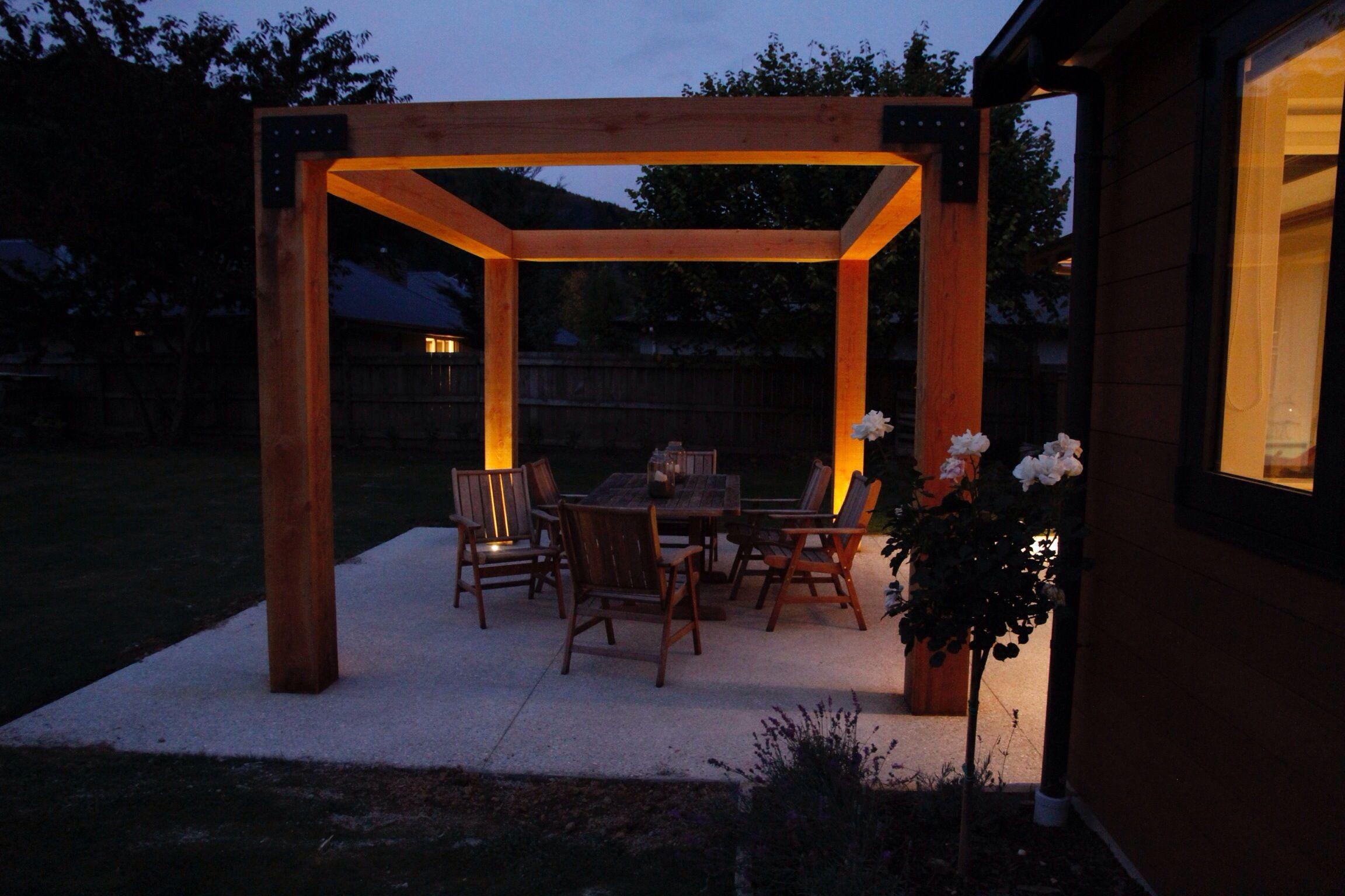 Pin pergola lighting on pinterest - Lights