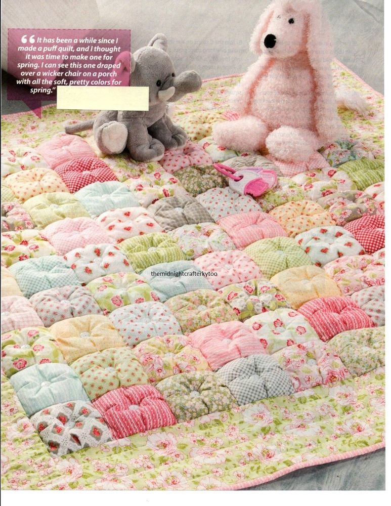 Springtime Puff Quilt Quilt Pattern Pieced Cm Floral Quilts