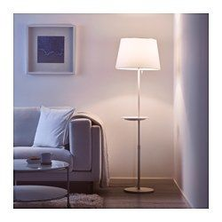 IKEA - VARV, Floor lamp base w/wireless charging, , You can easily ...