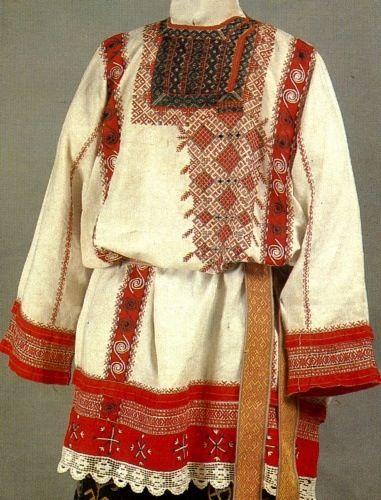 Russian peasant bridegroom costume. 17th century