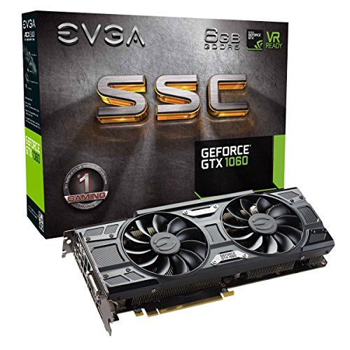 Evga Geforce Gtx 1060 6gb Ssc Gaming Acx 30 6gb Gddr5 Led Dx12 Osd