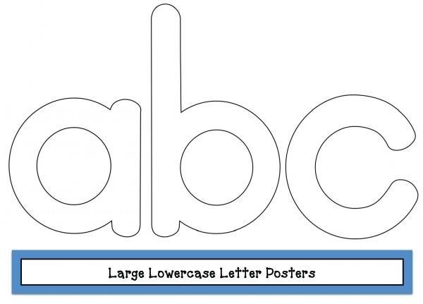 FREE Large Lowercase Letter Posters. These Black Line