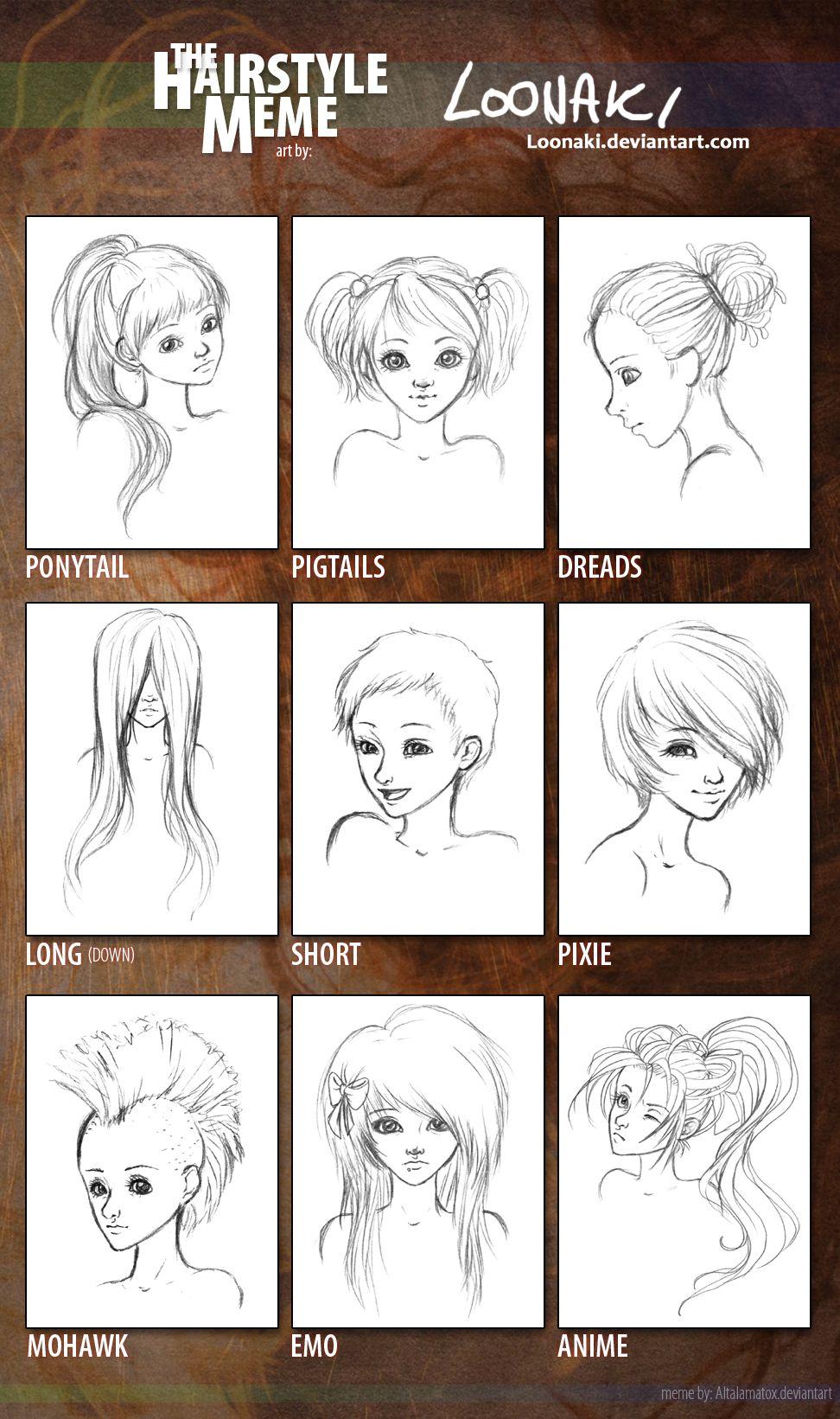 Hairstyle meme by loonakiviantart on deviantart art