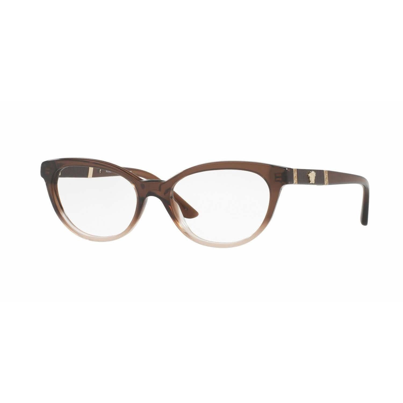 a3957842e387 Versace Womens VE3219Q 5165 Oval Eyeglasses