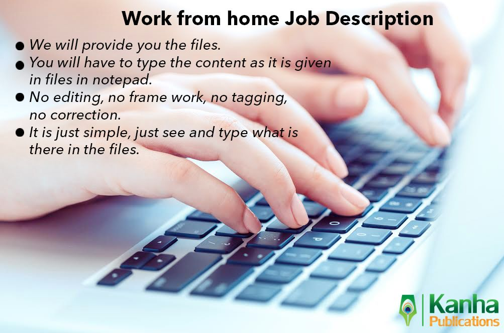 Workfromhome #job description  #Kanha_Publication | Kanha