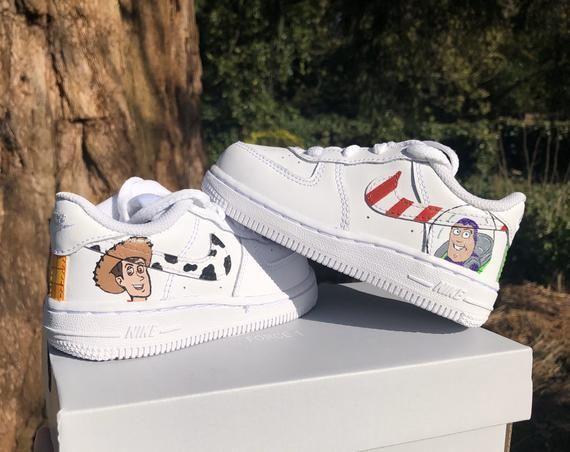 Woody Vs Buzz Nike Af1 Customs All Nike Shoes Custom Shoes Diy Nike Af1