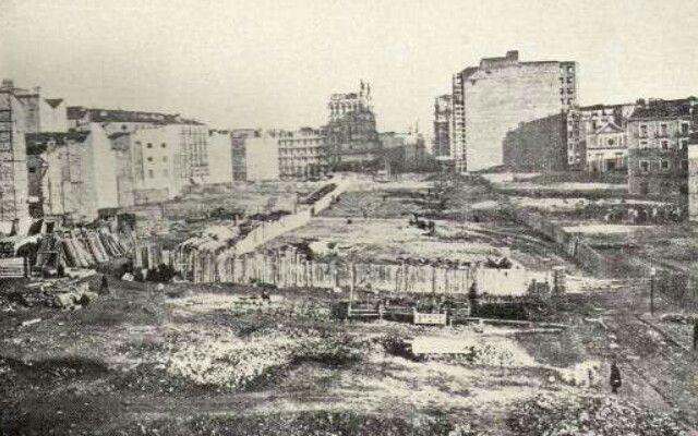 """MADRID ( ESPAÑA ), CONSTRUCCIÓN DE LA GRAN VIA, """" HACE 100 AÑOS """"."""