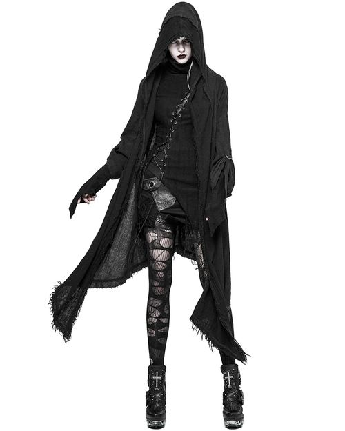 PUNK RAVE DYSTOPIA WOMENS HOODED CLOAK