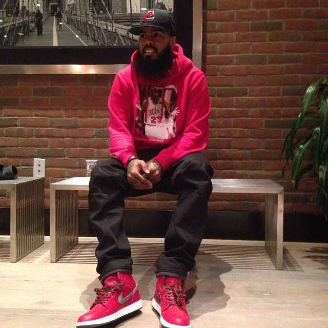 a3f194e54814 Stalley wearing Air Jordan 1 Retro Hi Premier