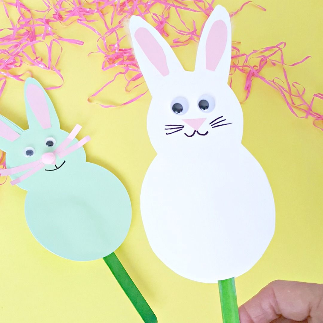 Photo of Bunny Puppet Craft