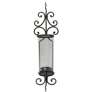 Iron Wall Sconce with Glass Cylinder   Iron wall sconces ... on Wall Sconces Hobby Lobby id=71234