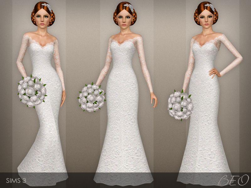 Simple Wedding Dresses Over 40: BEO's Wedding Dress 40