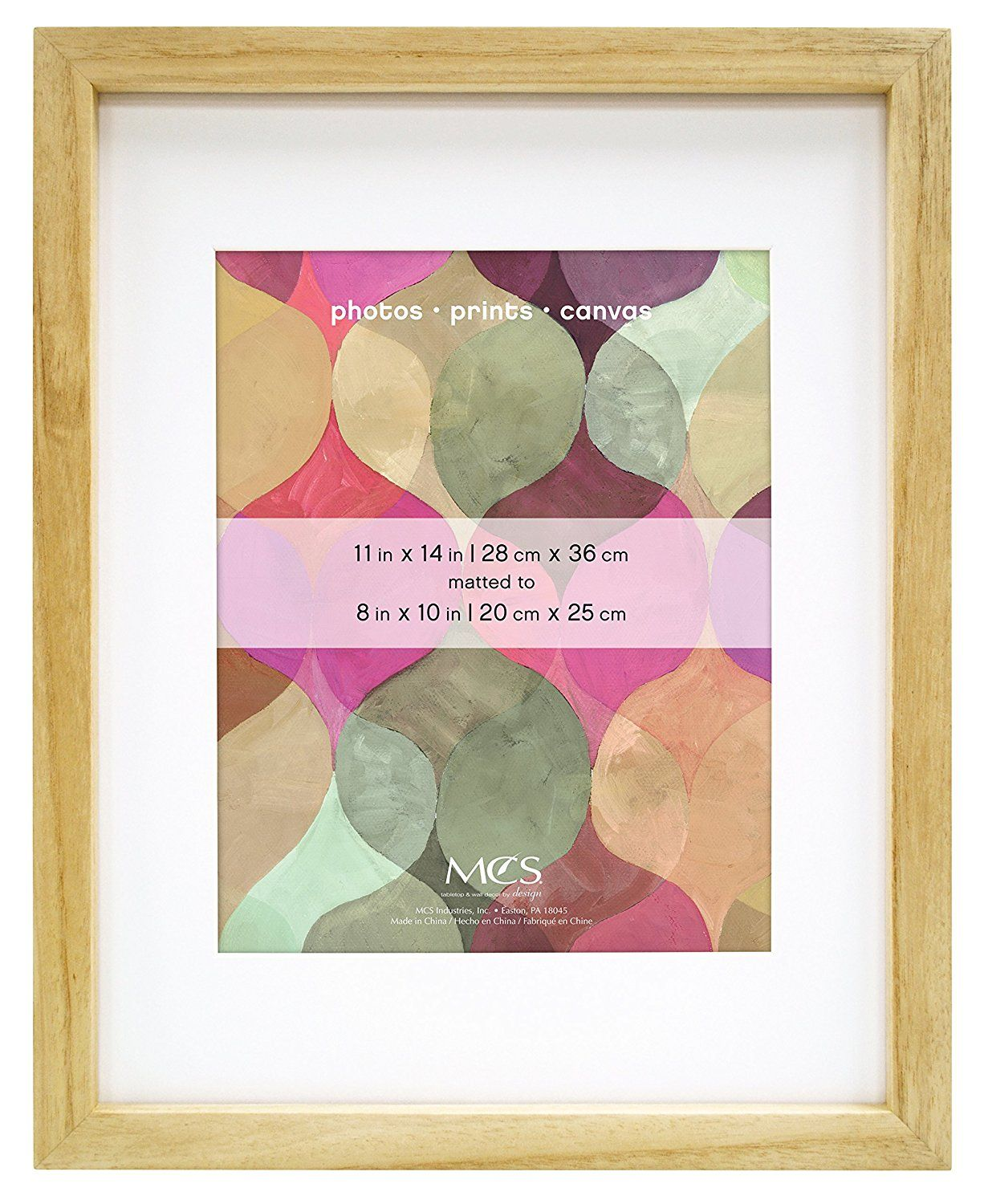Mcs Art Frame 11 By 14 Inch Frame With 8 By 10 Inch Mat Opening Natural Finish 47574 Check Out The Image By Visiting Wood Art Frames Frame Matting Frame