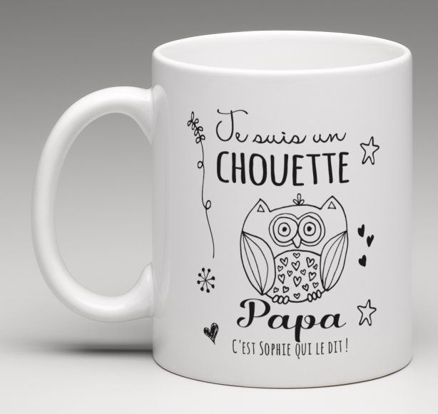 mug cadeau personnalis pour un chouette papa papa personnalis et chouette. Black Bedroom Furniture Sets. Home Design Ideas