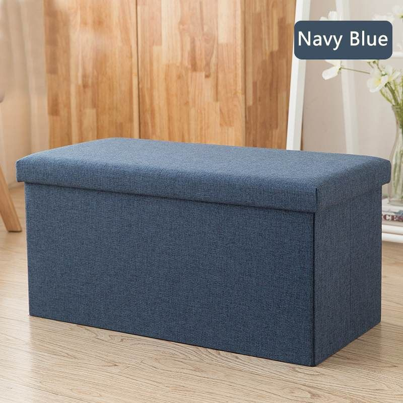 Multipurpose Storage Box Stool Innovative Sofa Stool Storage Footstool For Clothes Shoes Toys Snacks Magazines Home Organizers In 2020 Storage Footstool Multipurpose Storage Home Organization
