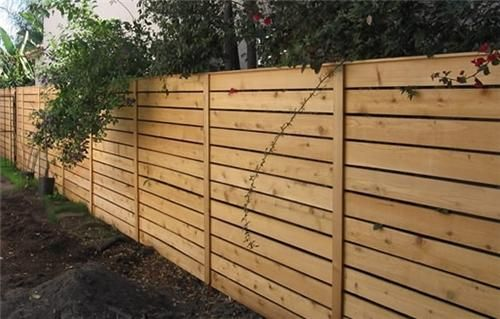 Horizontal Wood Fence Gates and Fencing Backyard Creations - rejas de madera