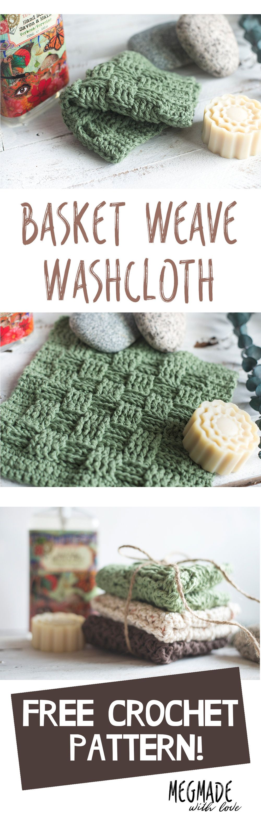 Basket Weave Stitch Washcloth Pattern Crochet Hats Dinah Daisy Dish Cloth Free Basketweave
