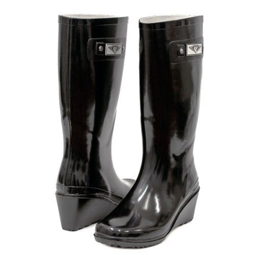 Women's & Ladie's Wedge Heel Rubber Rain Boots / Snow Boots (7 ...