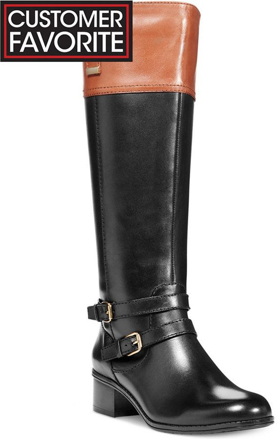 Wide calf riding boots