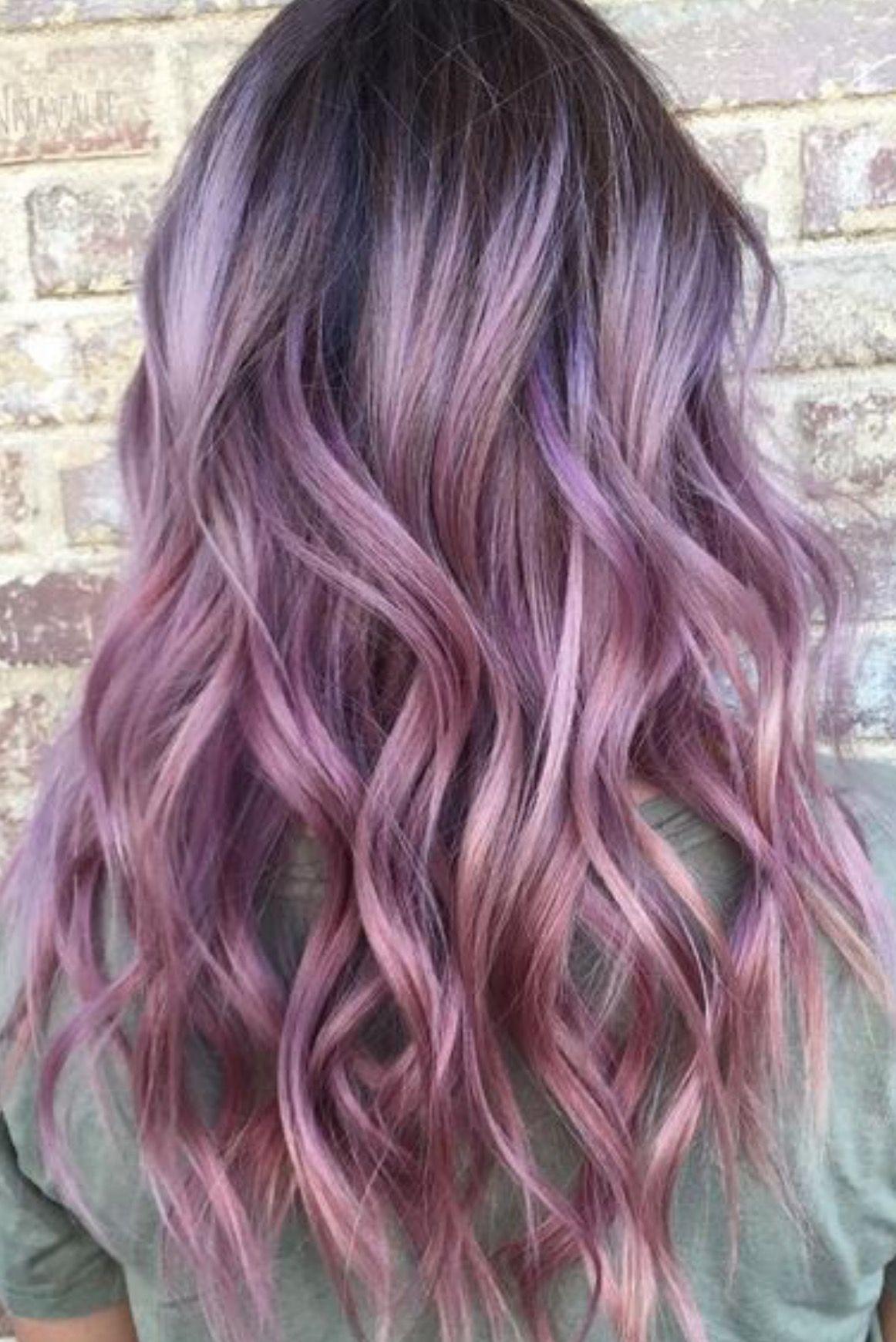 Creative Artistic Color Placement Violet Hair Colors Hair