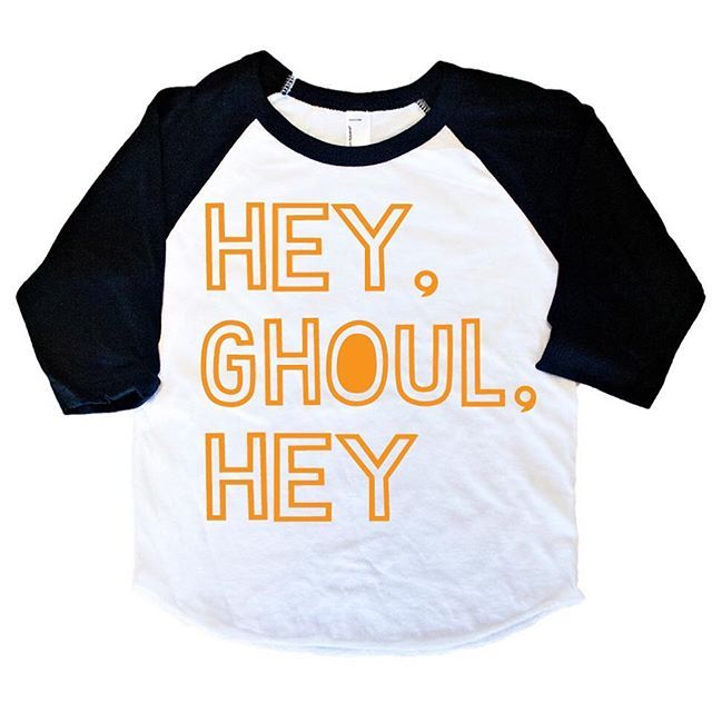 "•HEY, GHOUL, HEY• Perfect to match our upcoming ""Ghoul Next Door"" design!! These will be releasing on the MONDAY the 15th and we are SO excite! As always, let us know below if you'd like a tag when we release! 👻 • • • • • • #cutekidsclub #igfashion #kidzootd #instagram_kids #trendykiddies #babiesofinstagram #kidzfashion #kidslookbook #kids_stylezz #thechildrenoftheworld #igkiddies #flylittleguy #kidsfashion #toddlerfashion #harrypotter #quidditch #mischief #potterhead #harrypotterforever…"