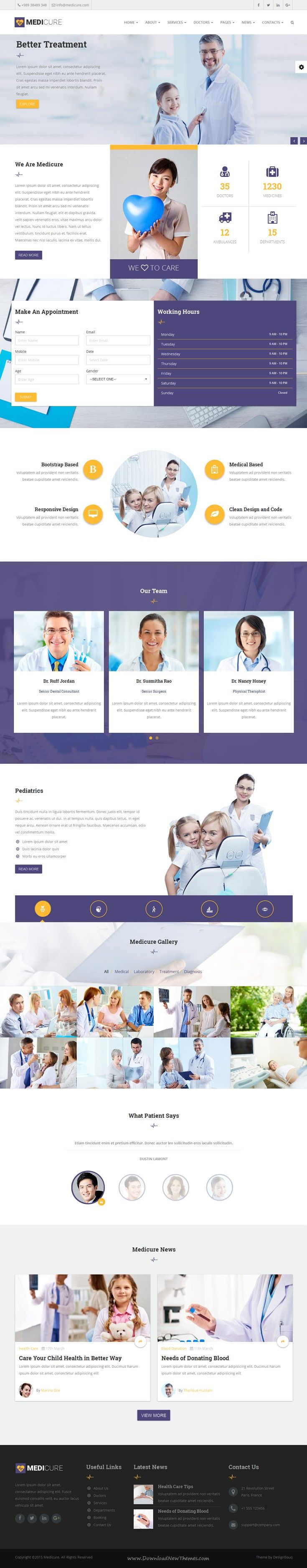 Medicure Is Wonderful Bootstrap HTML Template Suitable For Medical - Bootstrap html email templates