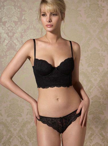 Black longline bra - to wear with black pencil skirt (and flatter tummy!!!) 140f67e1f