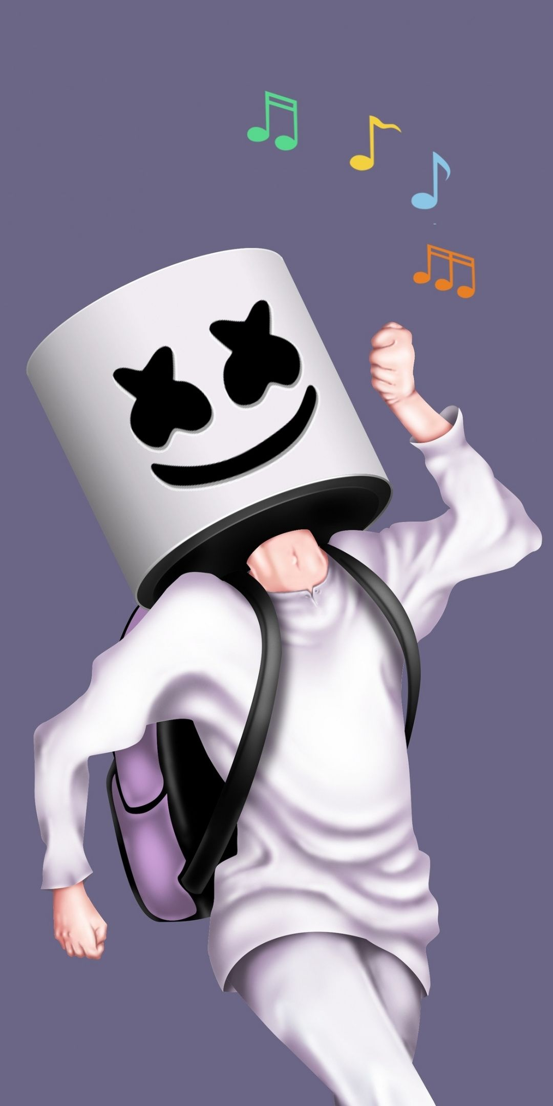 Marshmello, musician, DJ, walk alone, art, 1080x2160