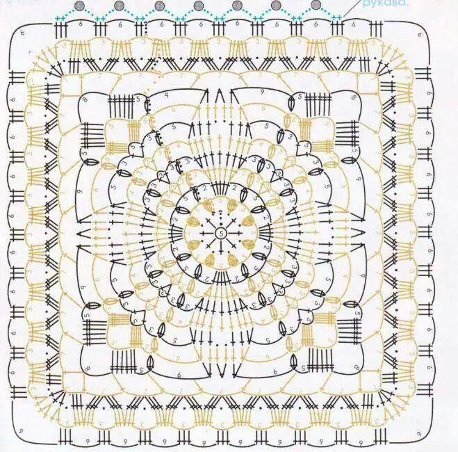 Granny square para el poncho | Csak nagyi négyzetek ....hatszögek ...